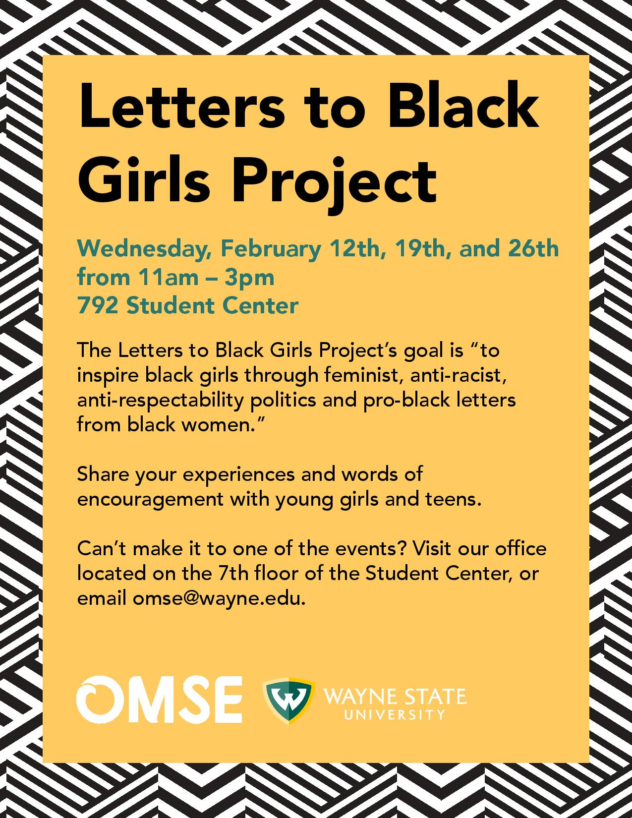 Letters to Black Girls